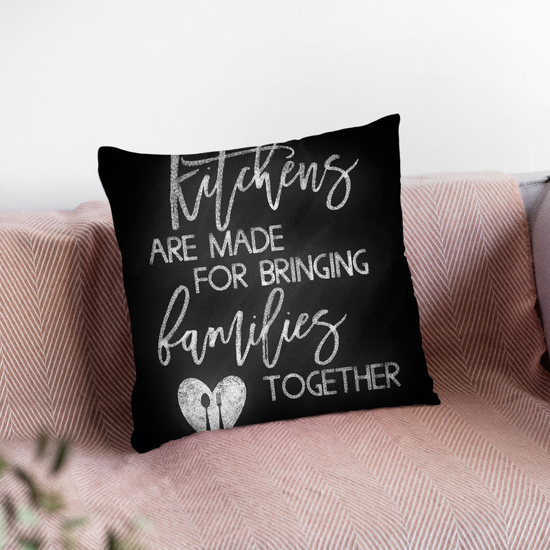Kitches Are Made For Chalk Throw Pillow By Little Pitti