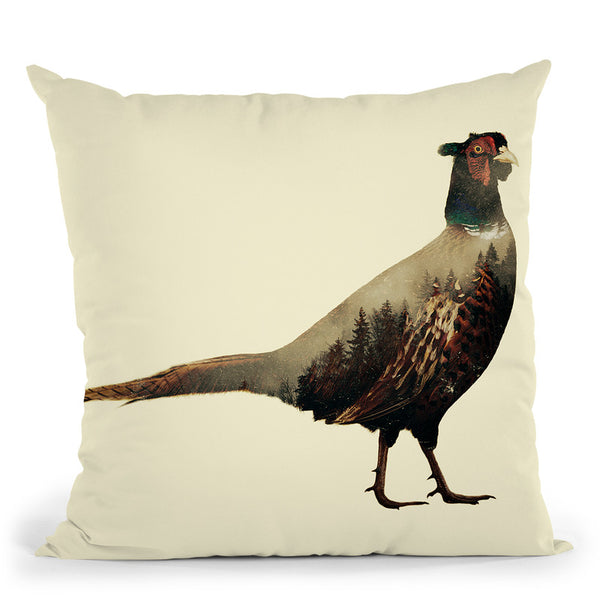 Pheasant Throw Pillow By Little Pitti