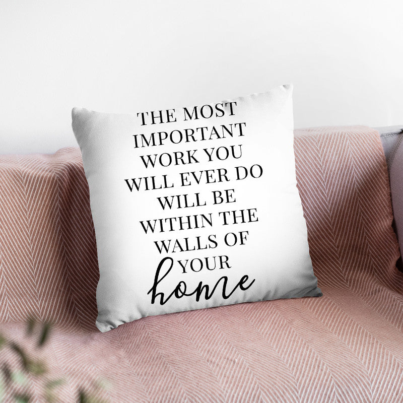 The Most Important Work Throw Pillow By Little Pitti