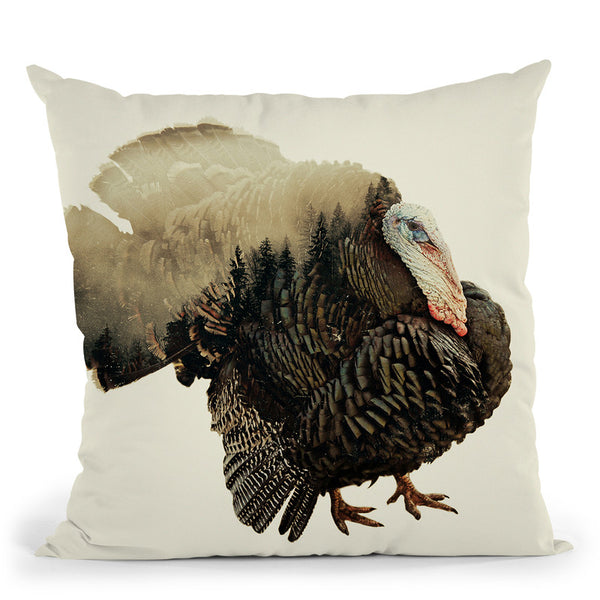 Turkey Throw Pillow By Little Pitti