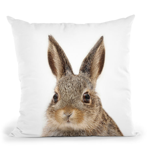 Rabbit Lp Throw Pillow By Little Pitti