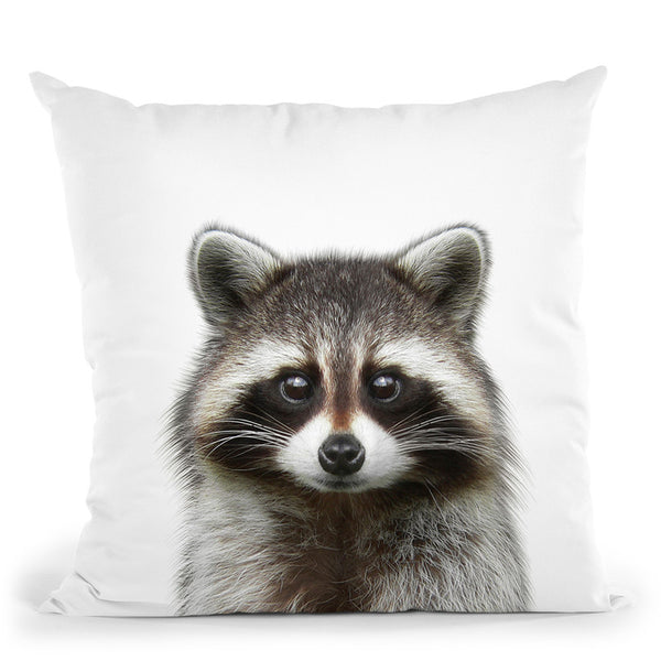 Raccoon Throw Pillow By Little Pitti