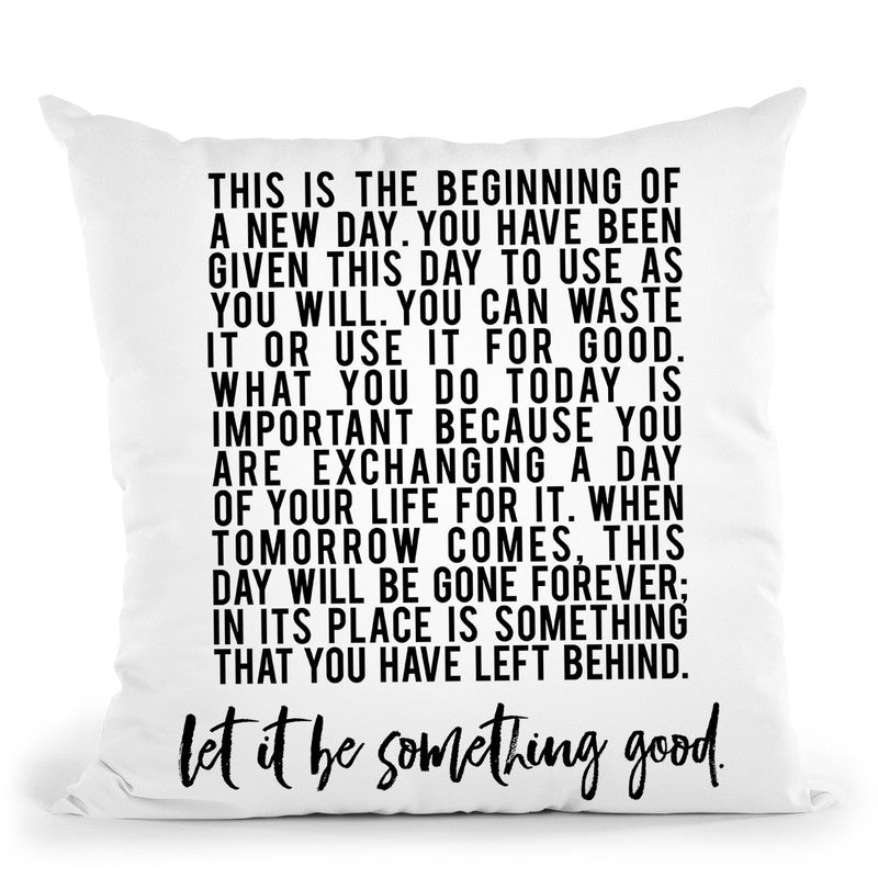 Beginning Of New Day Throw Pillow By Little Pitti
