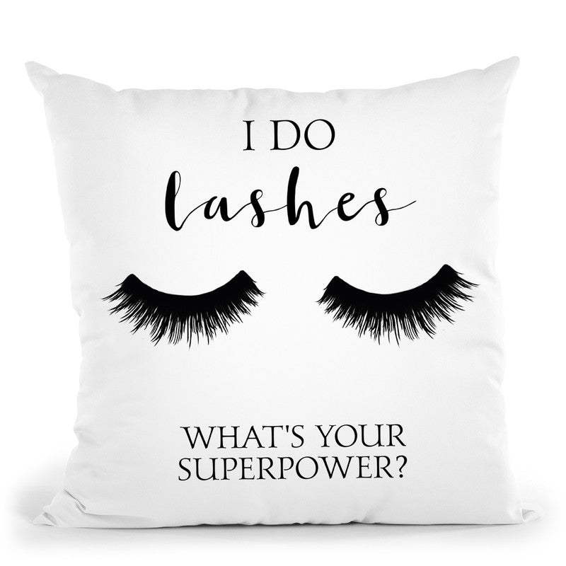 I Do Lashes Throw Pillow By Little Pitti
