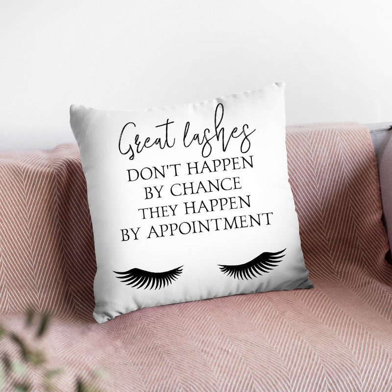Lash Appointment Throw Pillow By Little Pitti