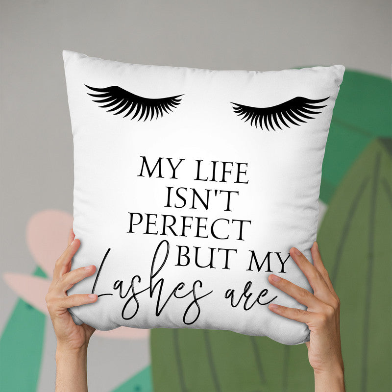 My Life Isn'T Perfect Throw Pillow By Little Pitti