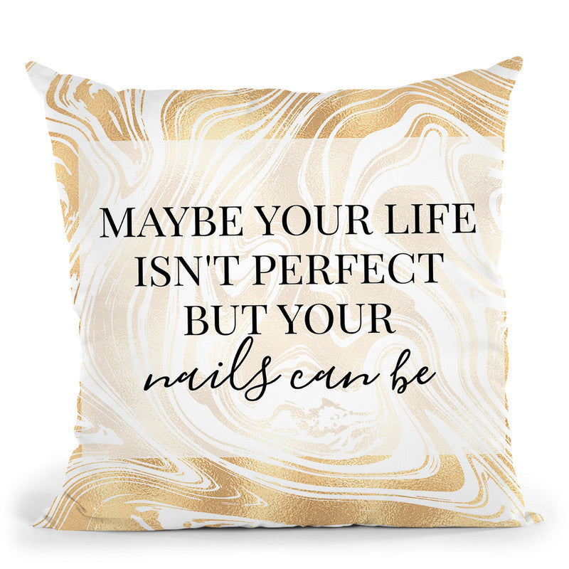 Perfect Nails Throw Pillow By Little Pitti