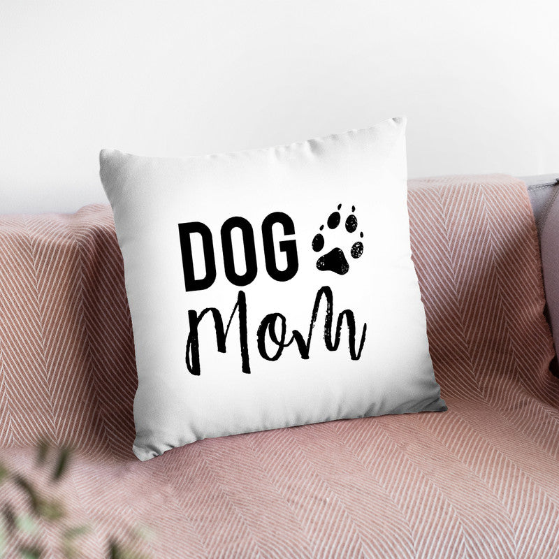 Dog Mom Throw Pillow By Little Pitti