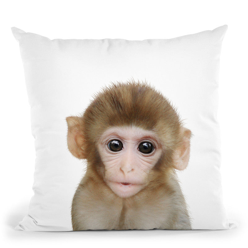 Baby Monkey Lp Throw Pillow By Little Pitti