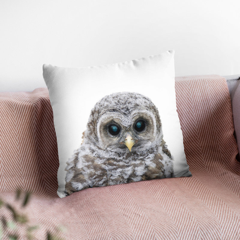Baby Owl Lp Throw Pillow By Little Pitti