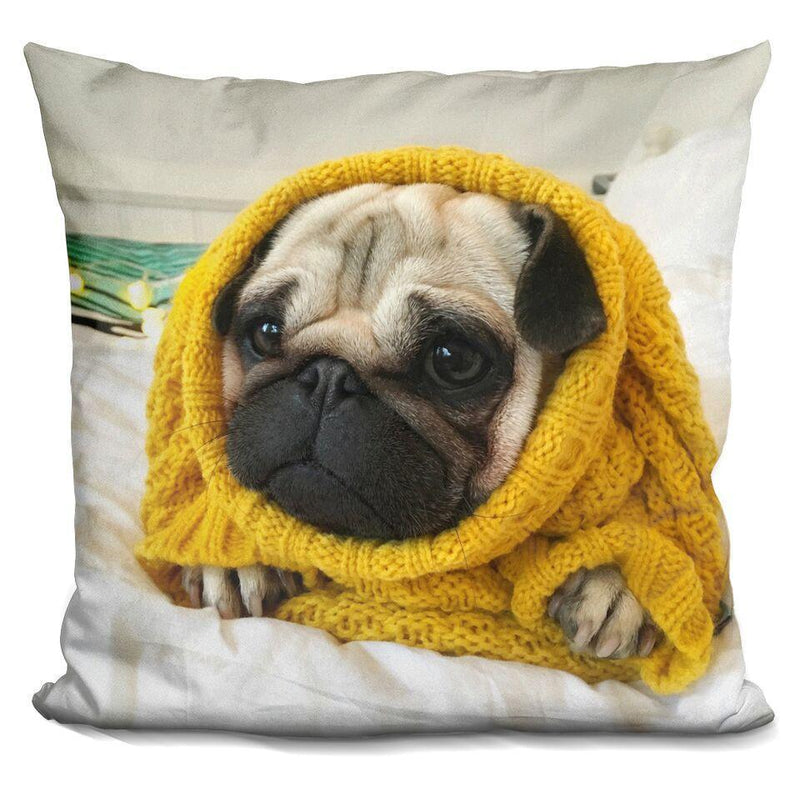 LouLou Oversized Yellow Sweater Square Pillow
