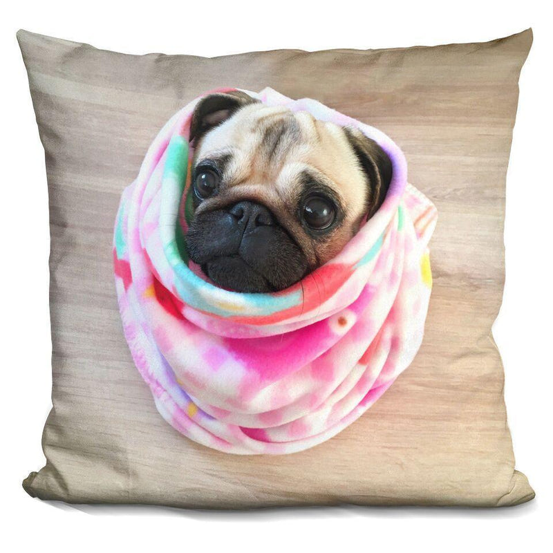 LouLou Tie Dye Snuggle Bug Square Pillow