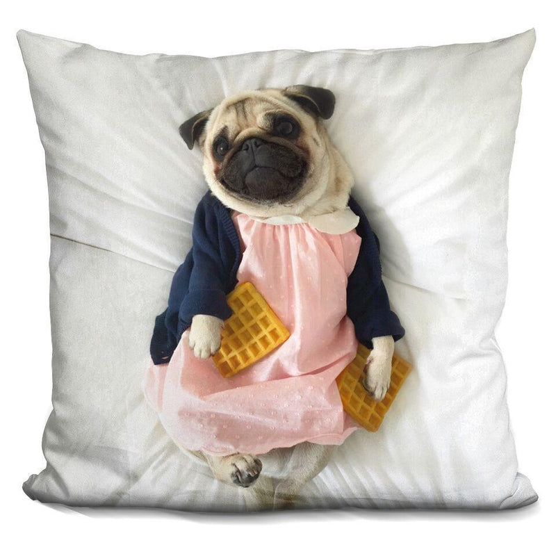 LouLou Waffle Girl Square Pillow