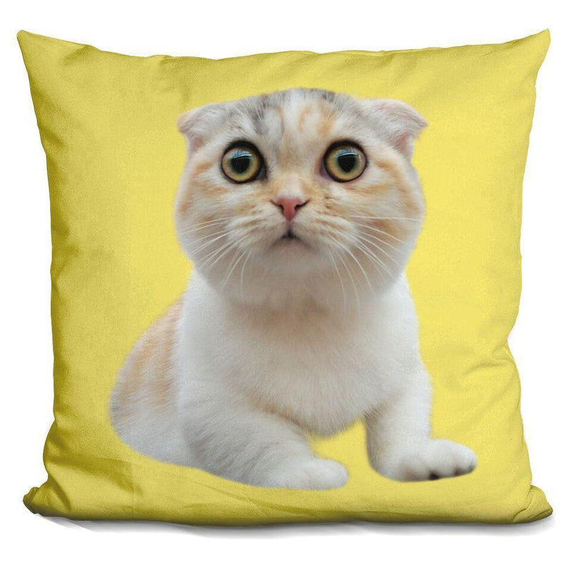 Luna Stalking Yellow Custom Shaped Pillow