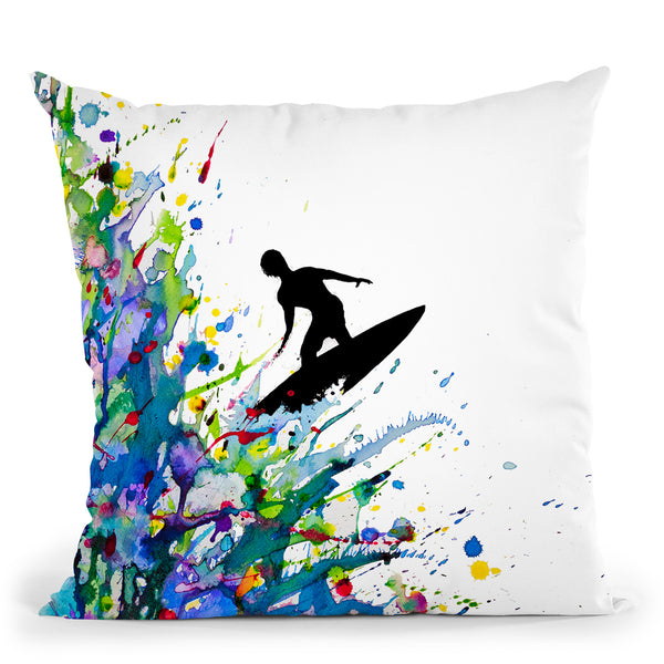 A Pollock'S Point Break Throw Pillow By Marc Allante