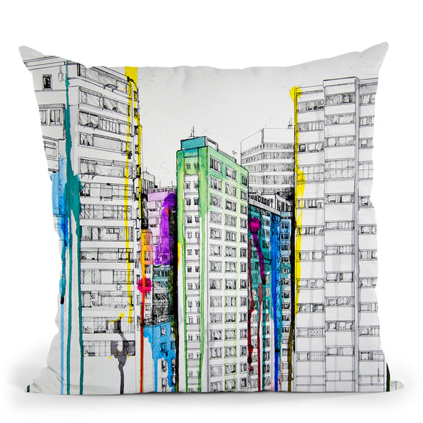 Hold Your Breath Throw Pillow By Marc Allante
