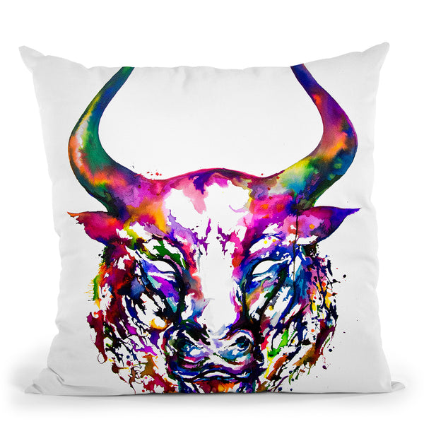 Philosopher Throw Pillow By Marc Allante