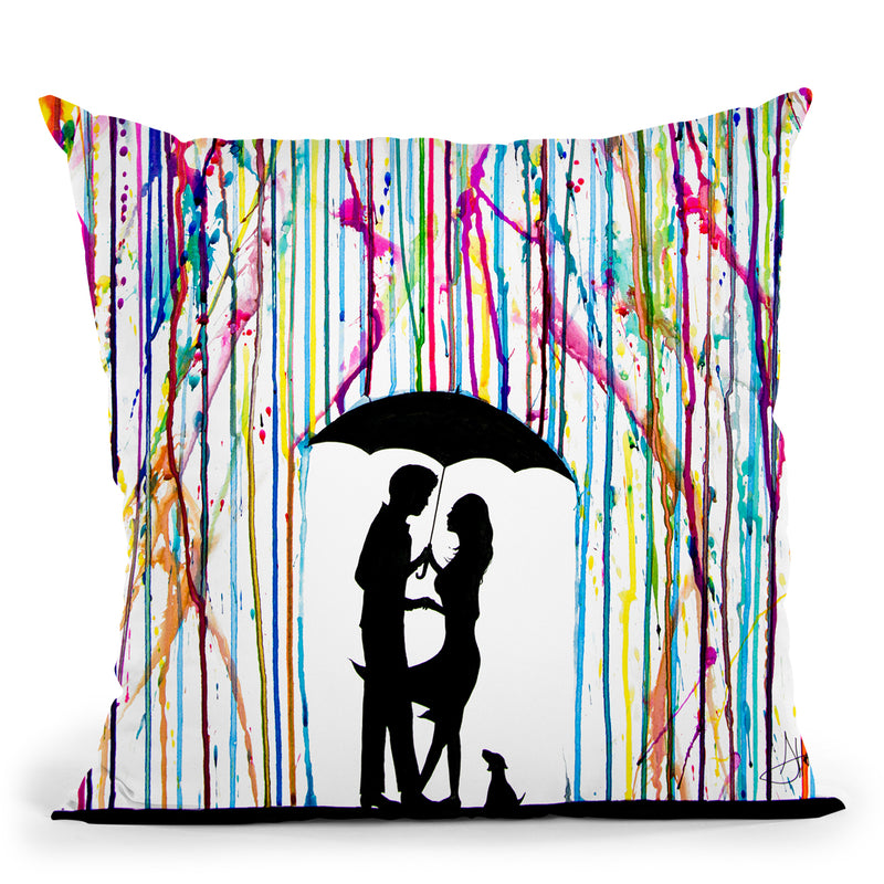 Two Step Throw Pillow By Marc Allante
