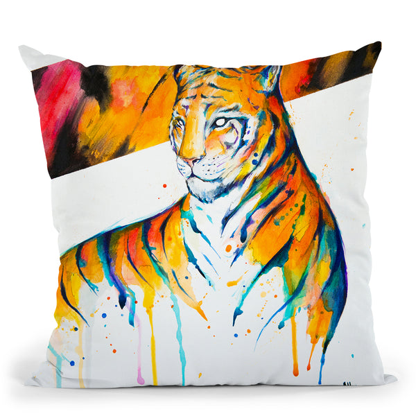 Burning Bright Throw Pillow By Marc Allante
