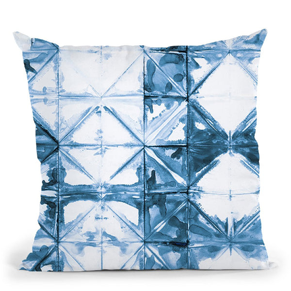 Kanari Vi Indigo Throw Pillow By Melissa Averinos