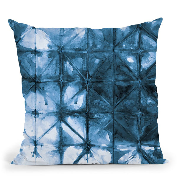 Kanari Iv Indigo Throw Pillow By Melissa Averinos