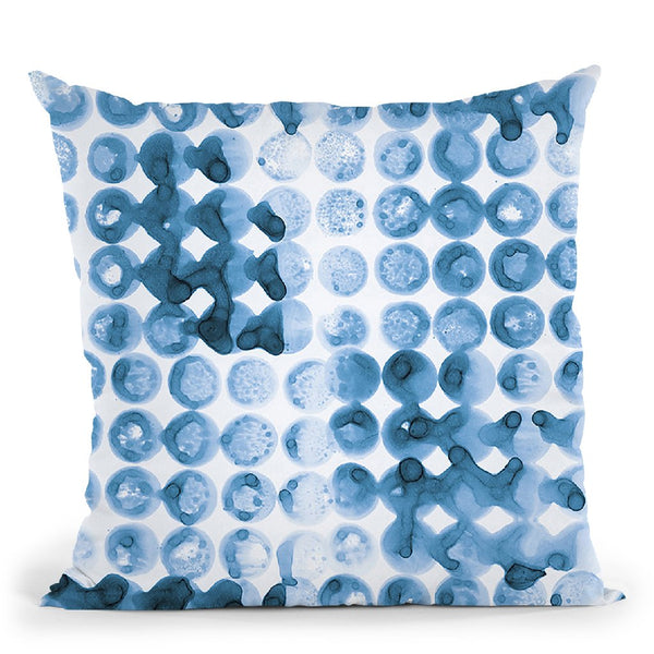 Kanari Iii Indigo Throw Pillow By Melissa Averinos