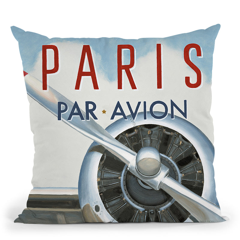 Travel By Air Iii Throw Pillow by Marco Fabiano