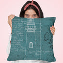 Coastal Blueprint Vii Throw Pillow by Marco Fabiano