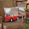 A Ride In Paris Red Car Throw Pillow by Marco Fabiano