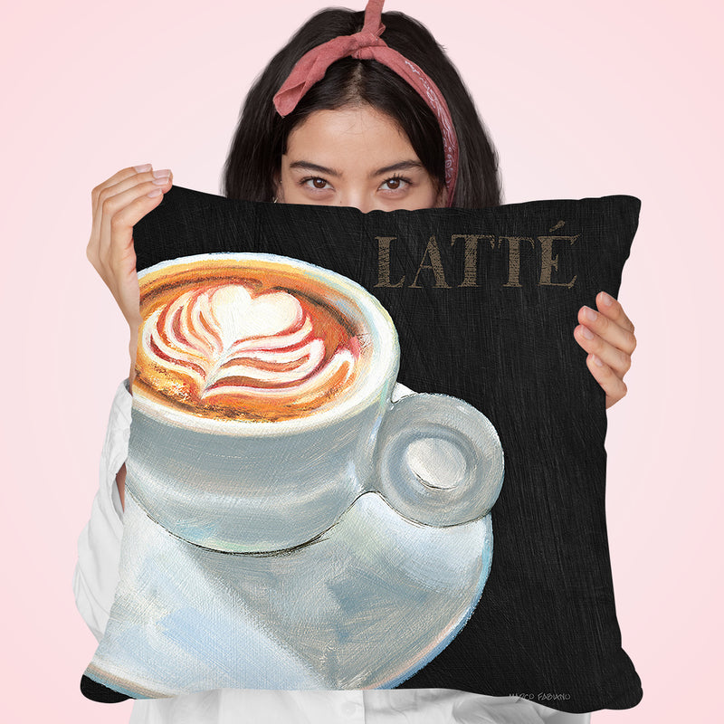 Dark Roast Ii Throw Pillow by Marco Fabiano