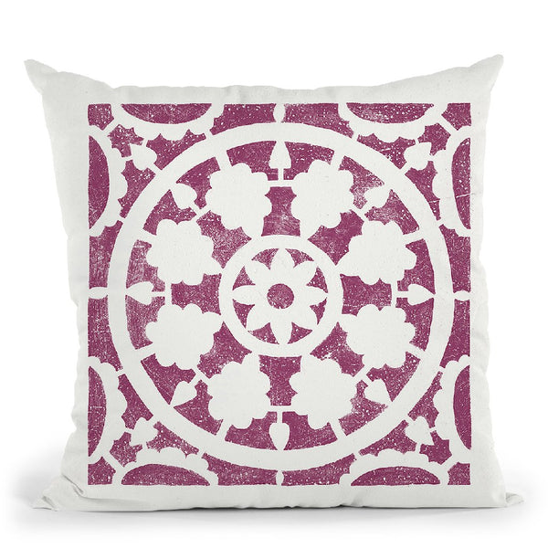 Hacienda Tile Vi Throw Pillow By Moira Hershey