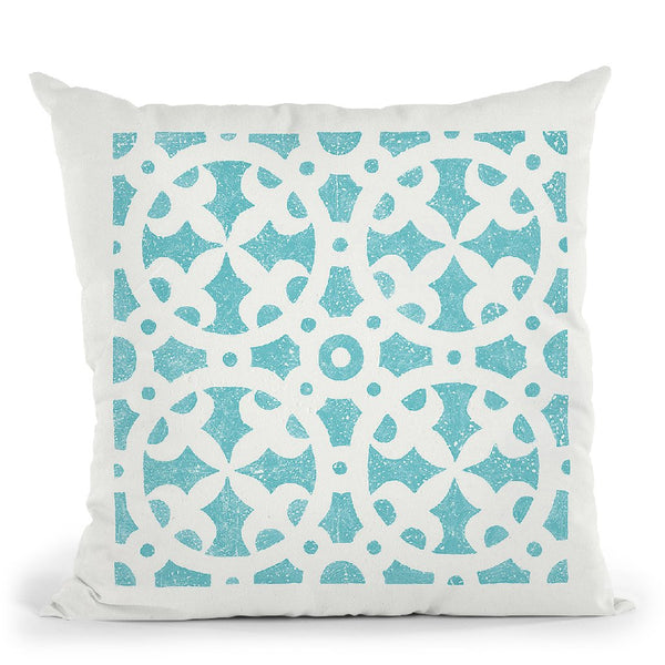 Hacienda Tile V Throw Pillow By Moira Hershey