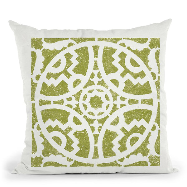 Hacienda Tile Iv Throw Pillow By Moira Hershey