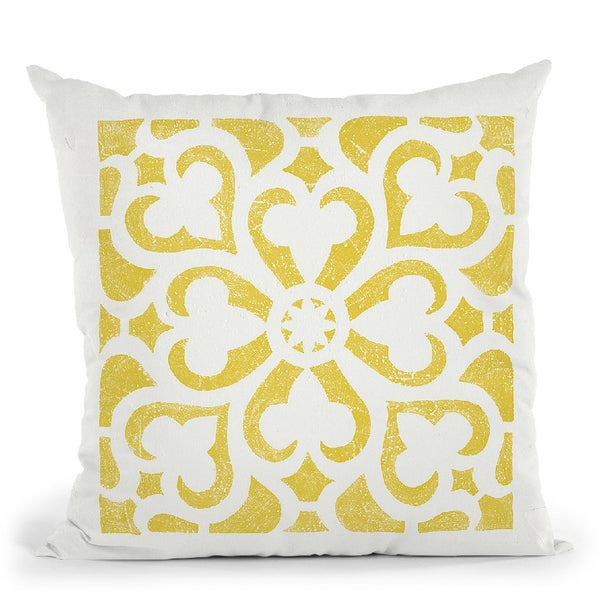 Hacienda Tile Iii Throw Pillow By Moira Hershey