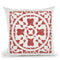 Hacienda Tile I Throw Pillow By Moira Hershey