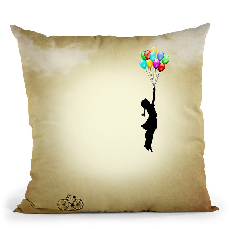 Balloon Throw Pillow By Mark Ashkenazi