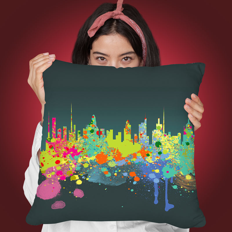 The Big I Throw Pillow By Mark Ashkenazi