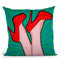Woman Legs With A Red Sexyoes Throw Pillow By Mark Ashkenazi