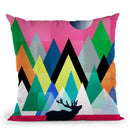 Cute Deer Throw Pillow By Mark Ashkenazi