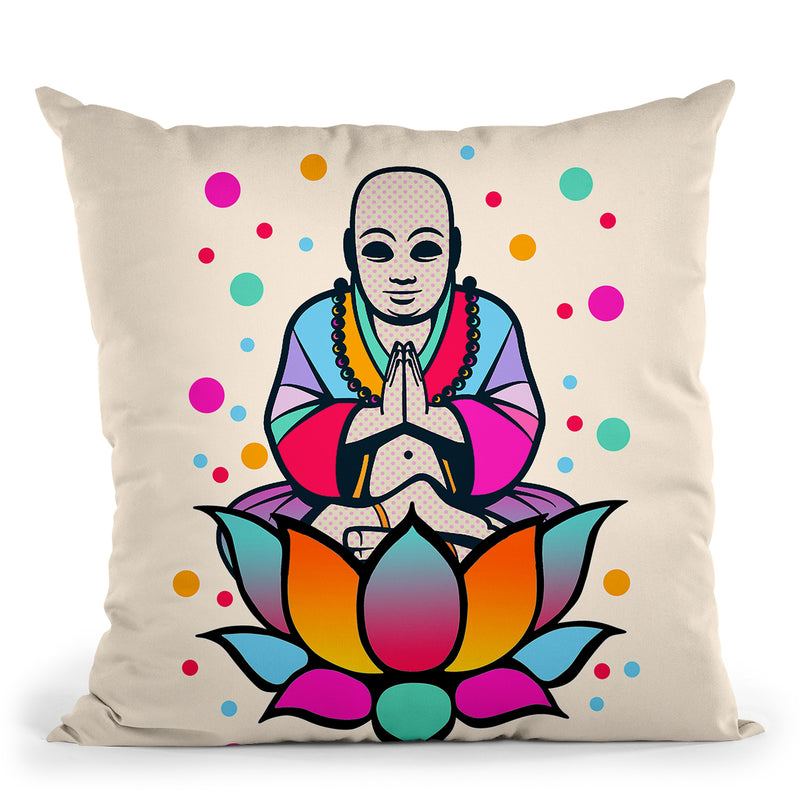 Buddha Throw Pillow By Mark Ashkenazi