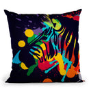 Zebra In Color Throw Pillow By Mark Ashkenazi