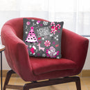 Christmas Deer Throw Pillow By Mark Ashkenazi