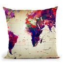 Map Graffiti Throw Pillow By Mark Ashkenazi