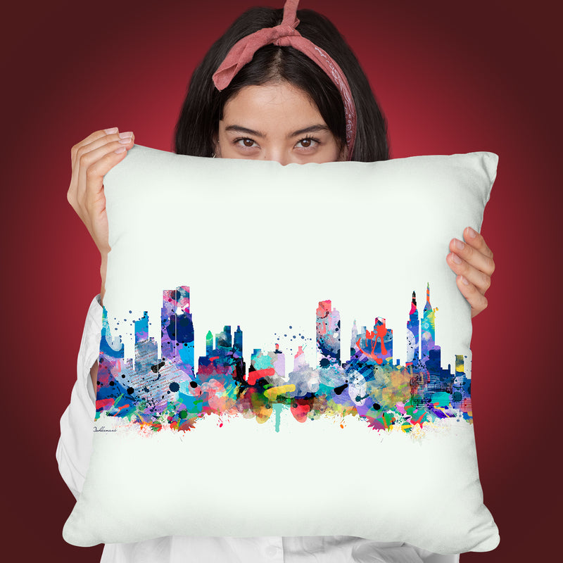 Mini Mal Ii Throw Pillow By Mark Ashkenazi