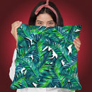 Tropical Leaves I Throw Pillow By Mark Ashkenazi