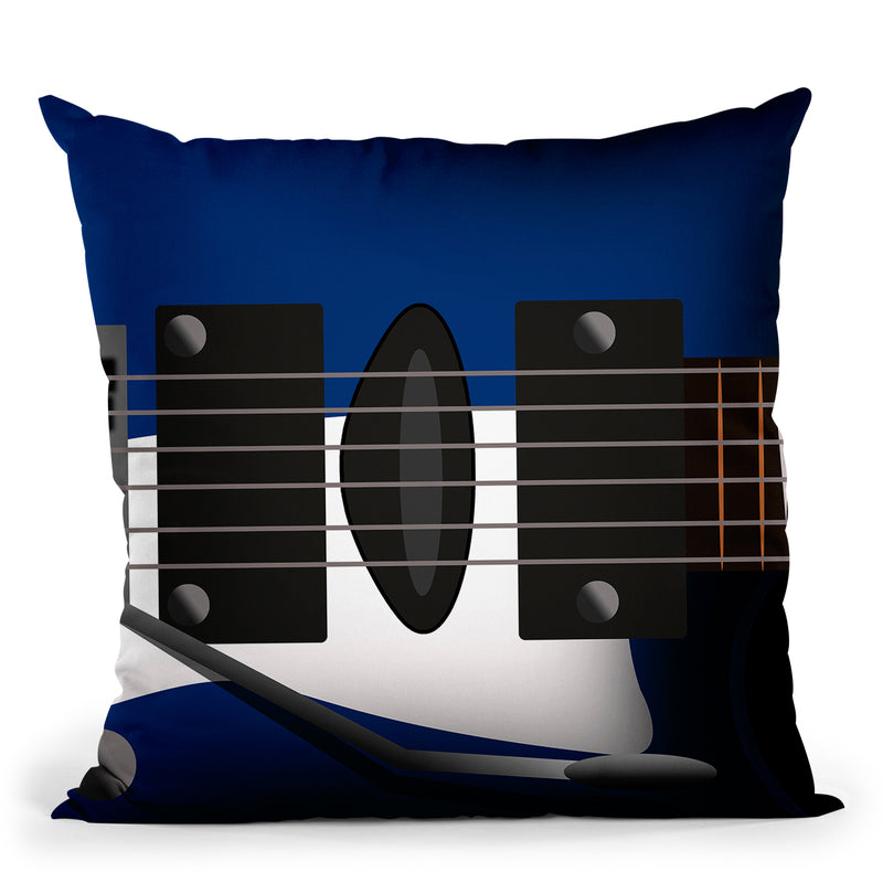 Electric Guitar Throw Pillow By Mark Ashkenazi