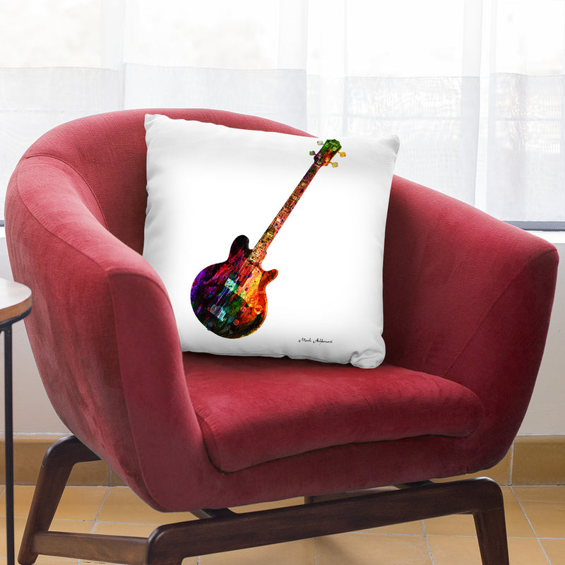 Guitar I Throw Pillow By Mark Ashkenazi