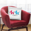 I Like U Throw Pillow By Mark Ashkenazi