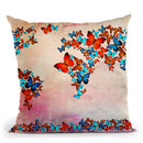 Map 5 Throw Pillow By Mark Ashkenazi