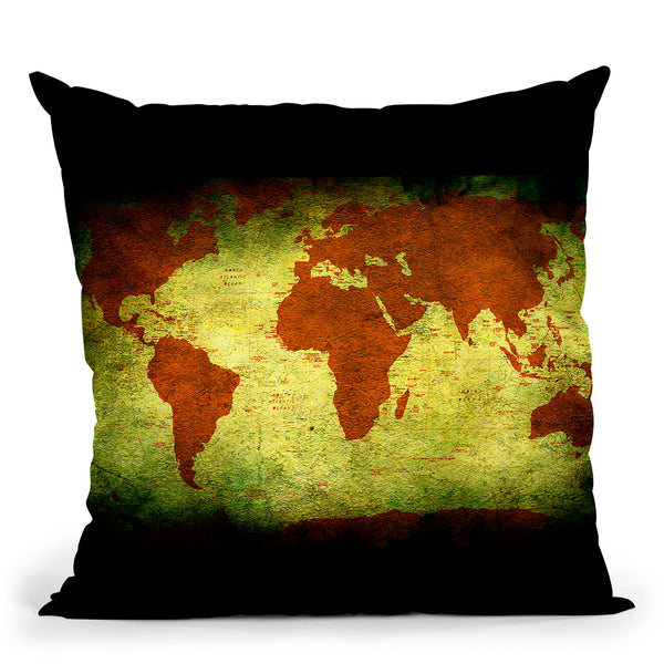 Map Of The World10 Throw Pillow By Mark Ashkenazi